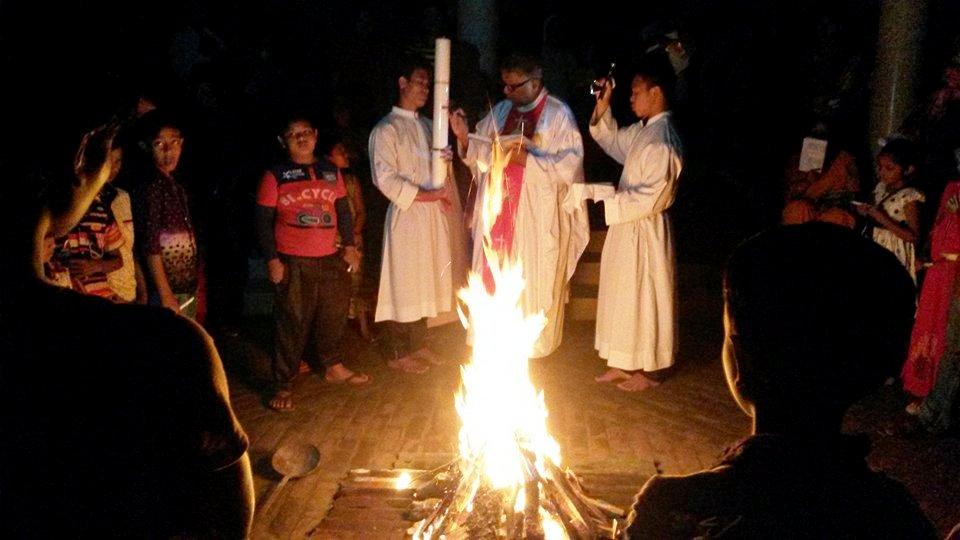 Battesimi di Pasqua a Gazipur, Dhaka