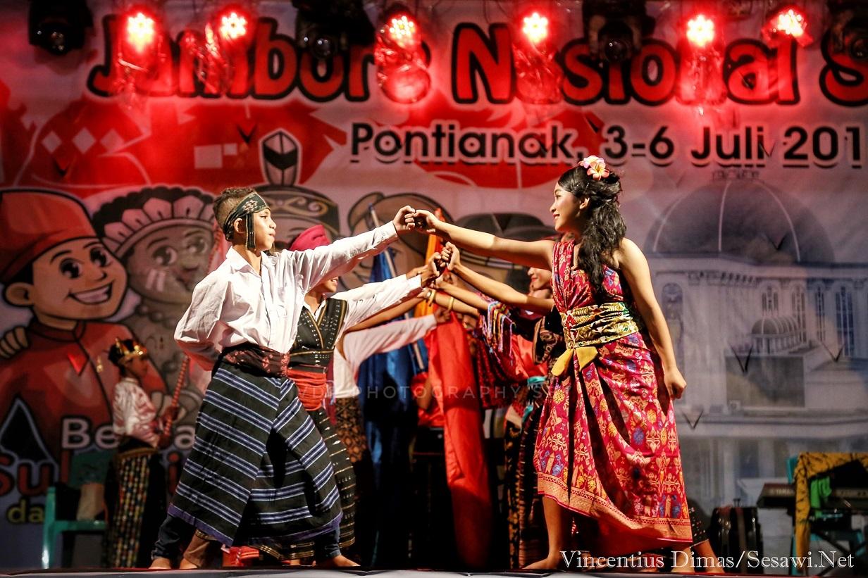Cerimonie di chiusura del raduno dei Giovani cattolici a Pontianak (West Kalimantan)