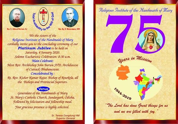 Handmaids of Mary mark their 75th anniversary