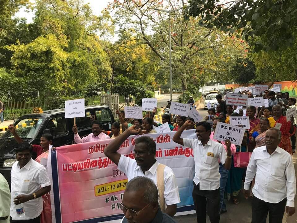 New Delhi, protesta nazionale di dalit cristiani e musulmani