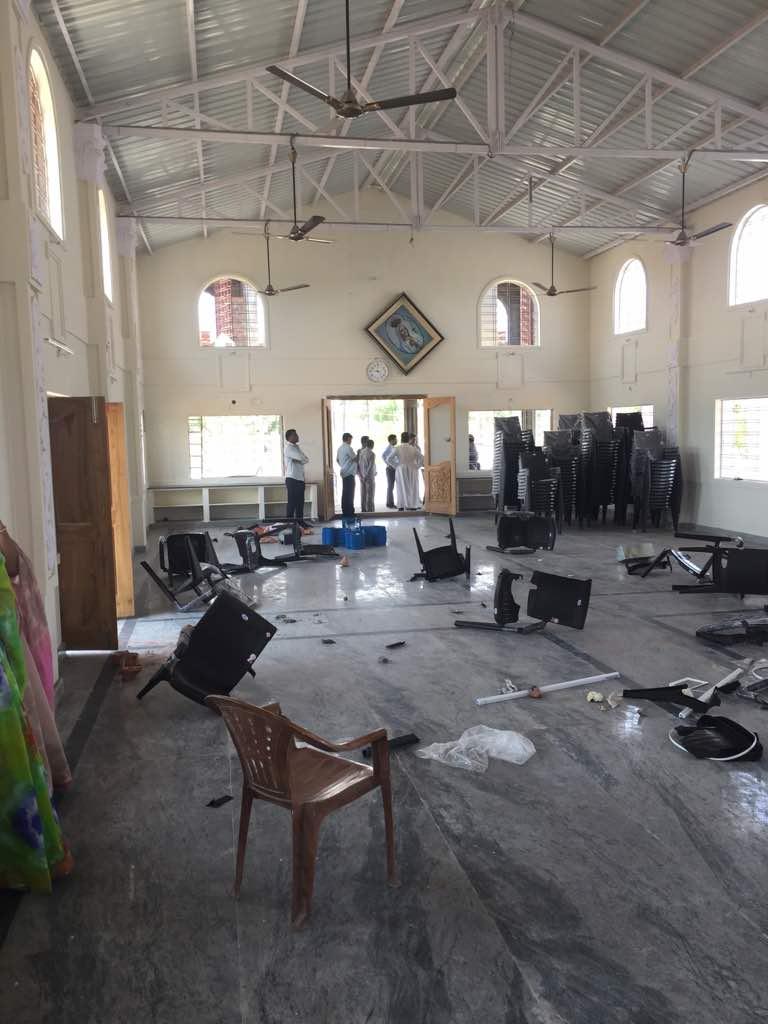 Chiesa della Madonna di Fatima devastata a Hyderabad