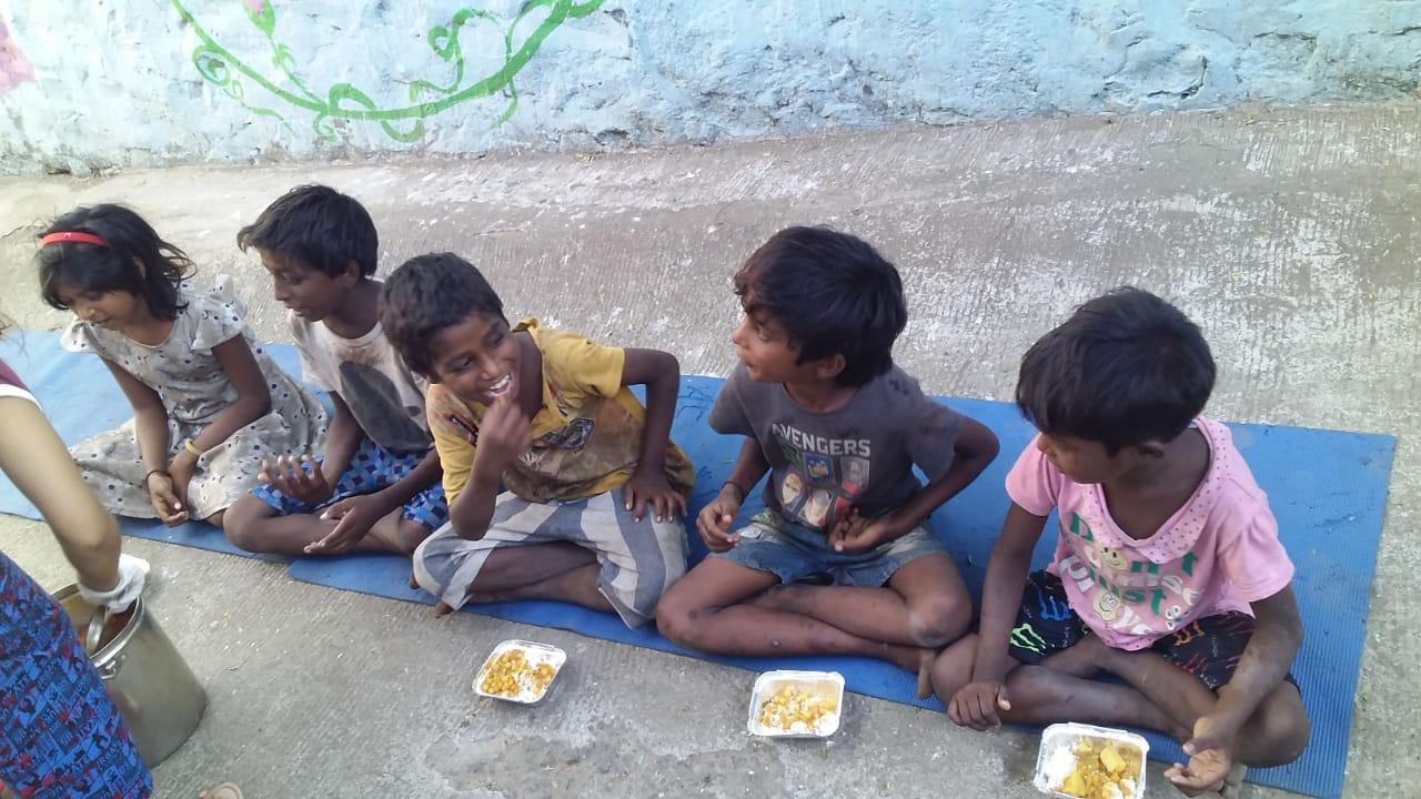 Relief for children in Bandra