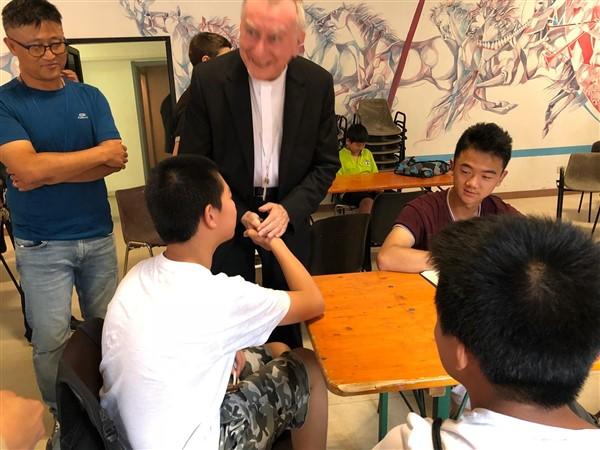 La visita del card. Parolin a casa Italia-Cina