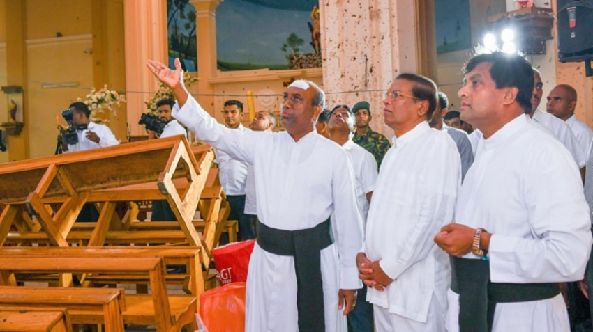 President Sirisena visits St. Sebastian's church