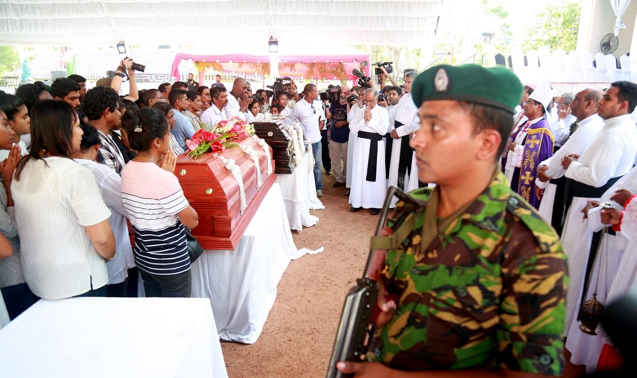 Funeral service in St. Sebastian's church