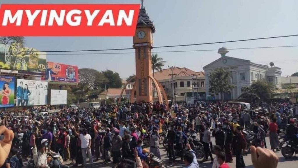 Protests in Myanmar