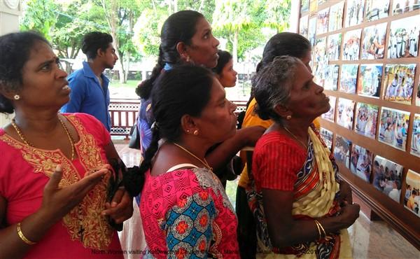 Tamil women visit St Sebastian Church