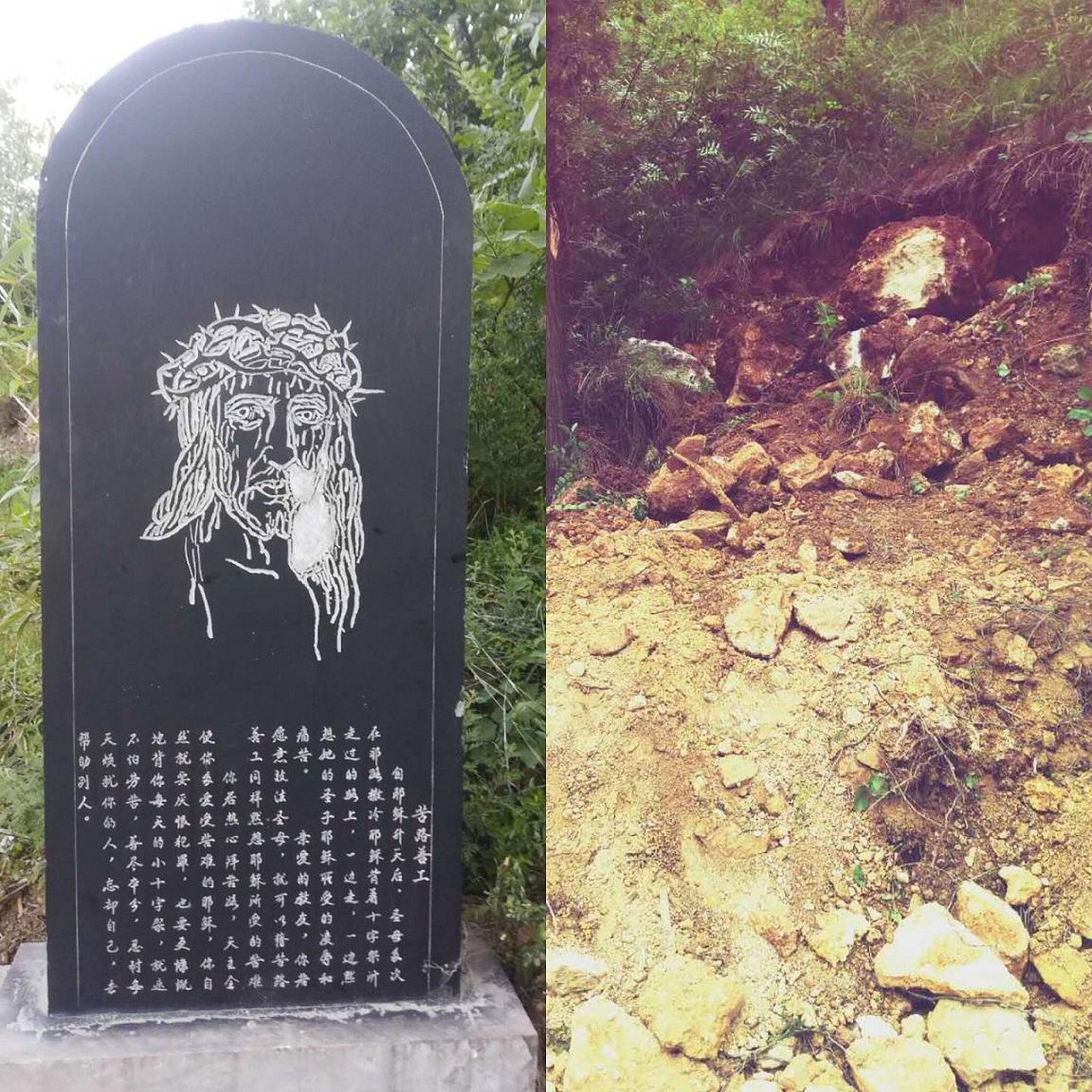 Demolita una Via Crucis a Tianjiajing