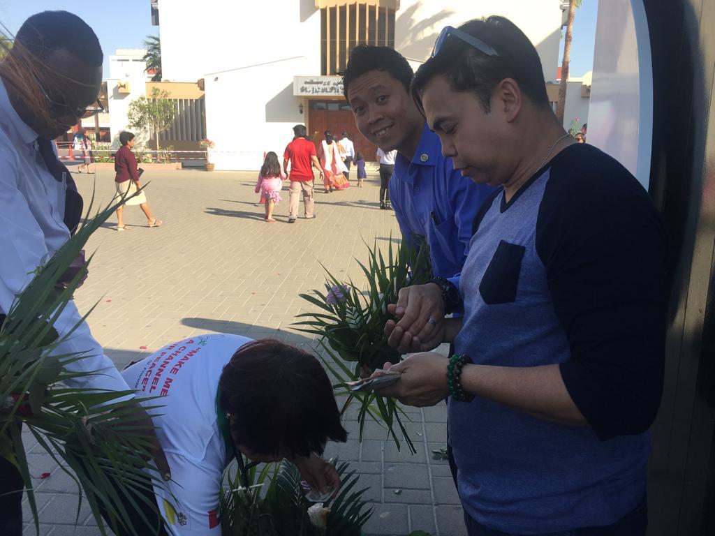 Palm Sunday in Abu Dhabi