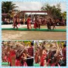 Danze tribali Dayak a Balai Karangan, diocesi di Sanggau