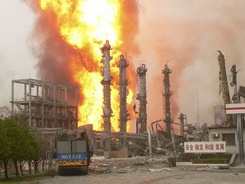 chemical and industrial accidents Danger originating from technological or industrial accidents degradation of one or more aspects in the environment by noxious industrial, chemical or.
