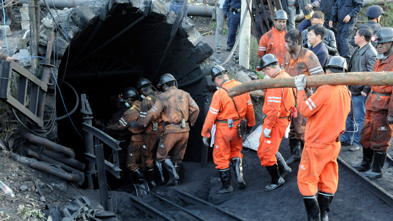 Image result for 22 workers are trapped in a unlicensed coal mine in China'
