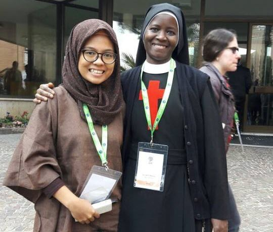 INDONESIA – VATICAN Dewi, a young Muslim woman, on her
