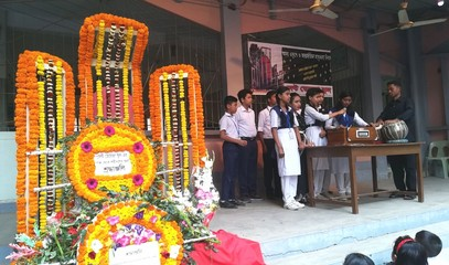 Pupils in Dhaka Catholic school remember 'mother tongue martyrs' (photos)