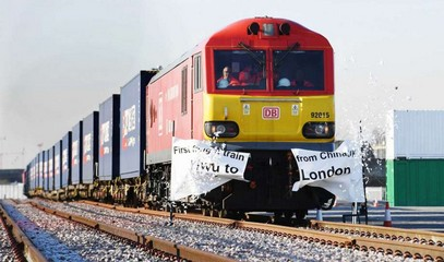 The first freight train between China and Britain reaches its destination