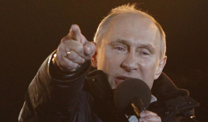 Putin's victory seen from West and East