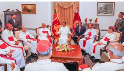 President Sirisena thanks Asian bishops and the Church for their work