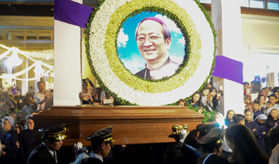 The remains of the late archbishop have come home to the archdiocese in Saigon