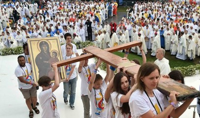 Pope to the young: Like Mary, do not be afraid. The WYD is for the brave