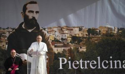 Pope in Pietrelcina: Follow in the footsteps of Padre Pio